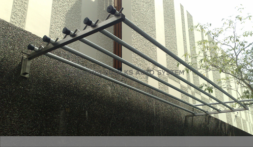 Ks Auto System Pte Ltd Model 105 Outdoor Retractable Wall Mount System